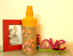 grapevine home decor upcycled bottle