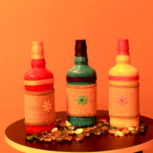 Recycled bottle craft bottles for decor