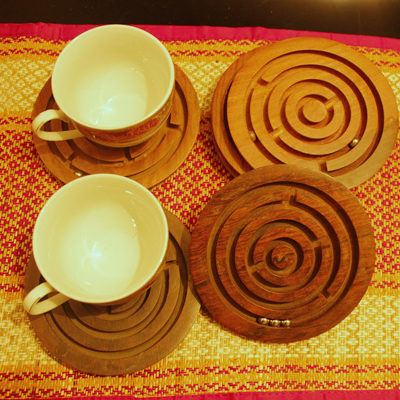 play with tea coasters