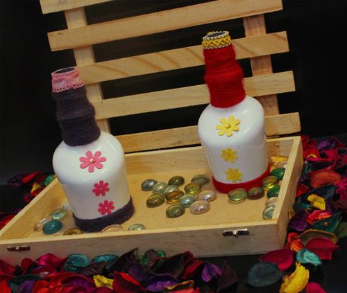 bottle set for home decor