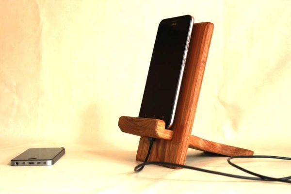 wooden phone stand myindianbrand exclusive