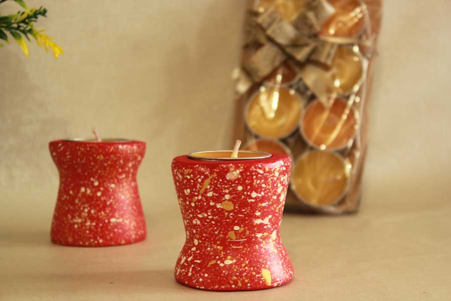 red-upcycled-candle-stand-2-set