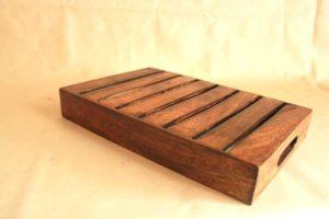 wooden tray mango wood rect