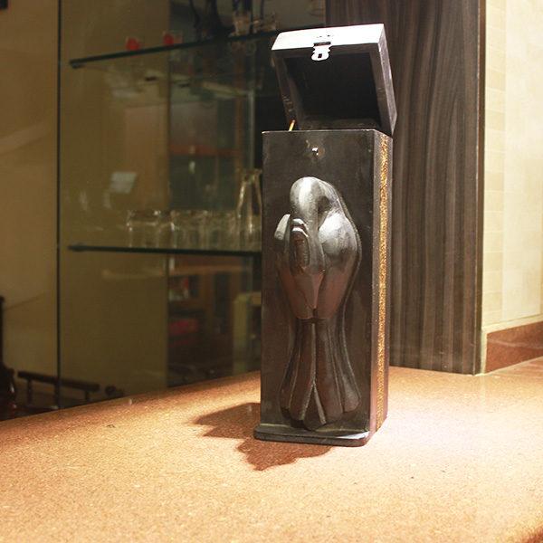 wooden vintage wine box black my indian brand
