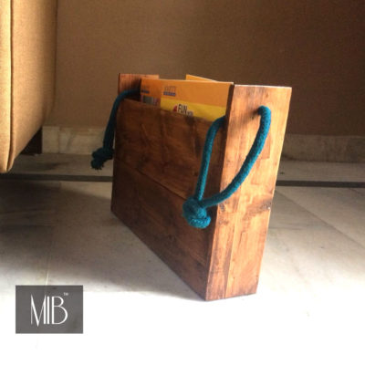 wooden magazine holder for living room my indian brand