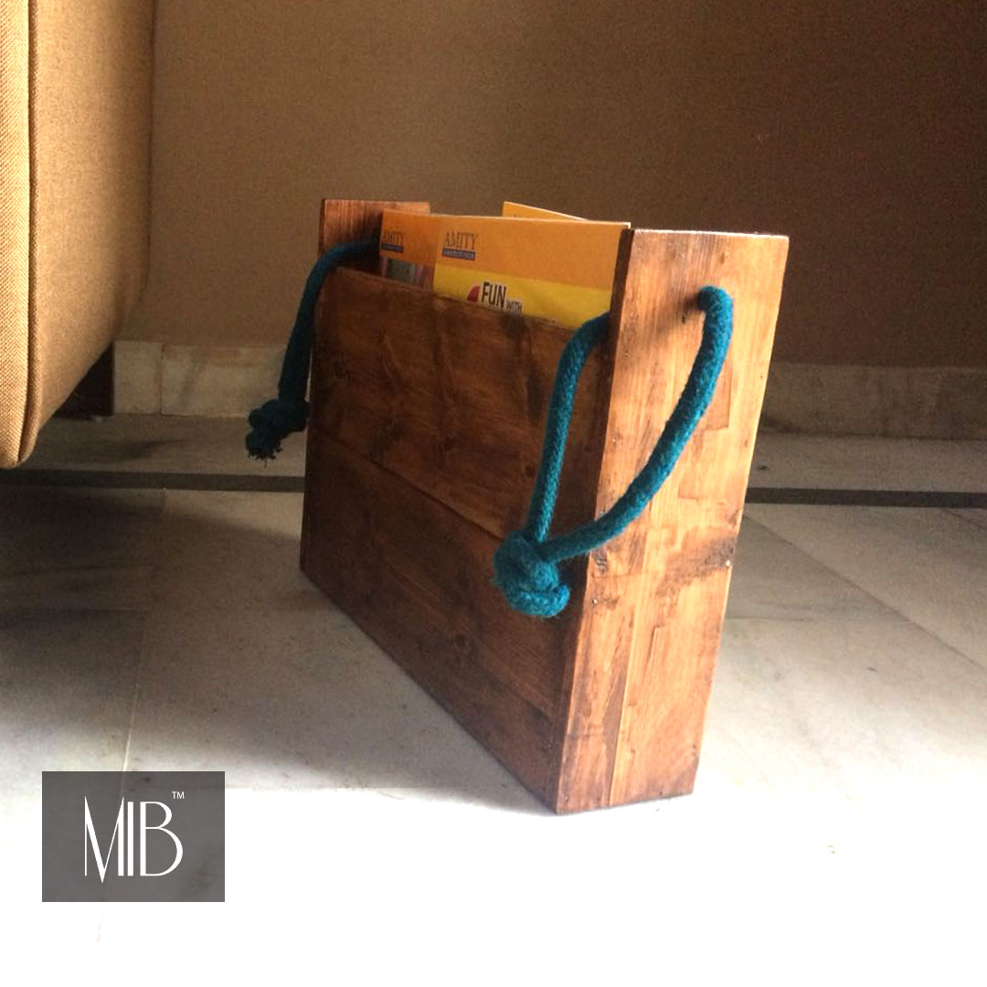 Magazine Holder With Antique Touch