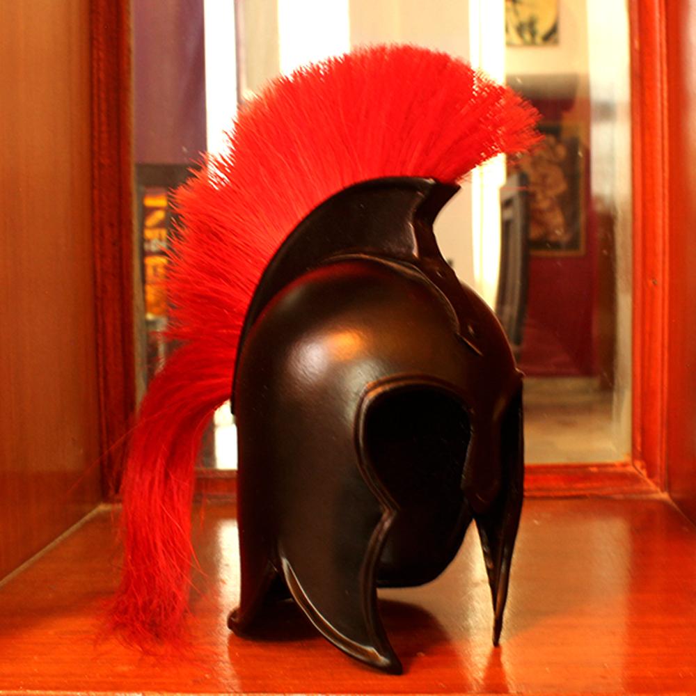 Vintage Black Spartan Helmet For Home Decor Small
